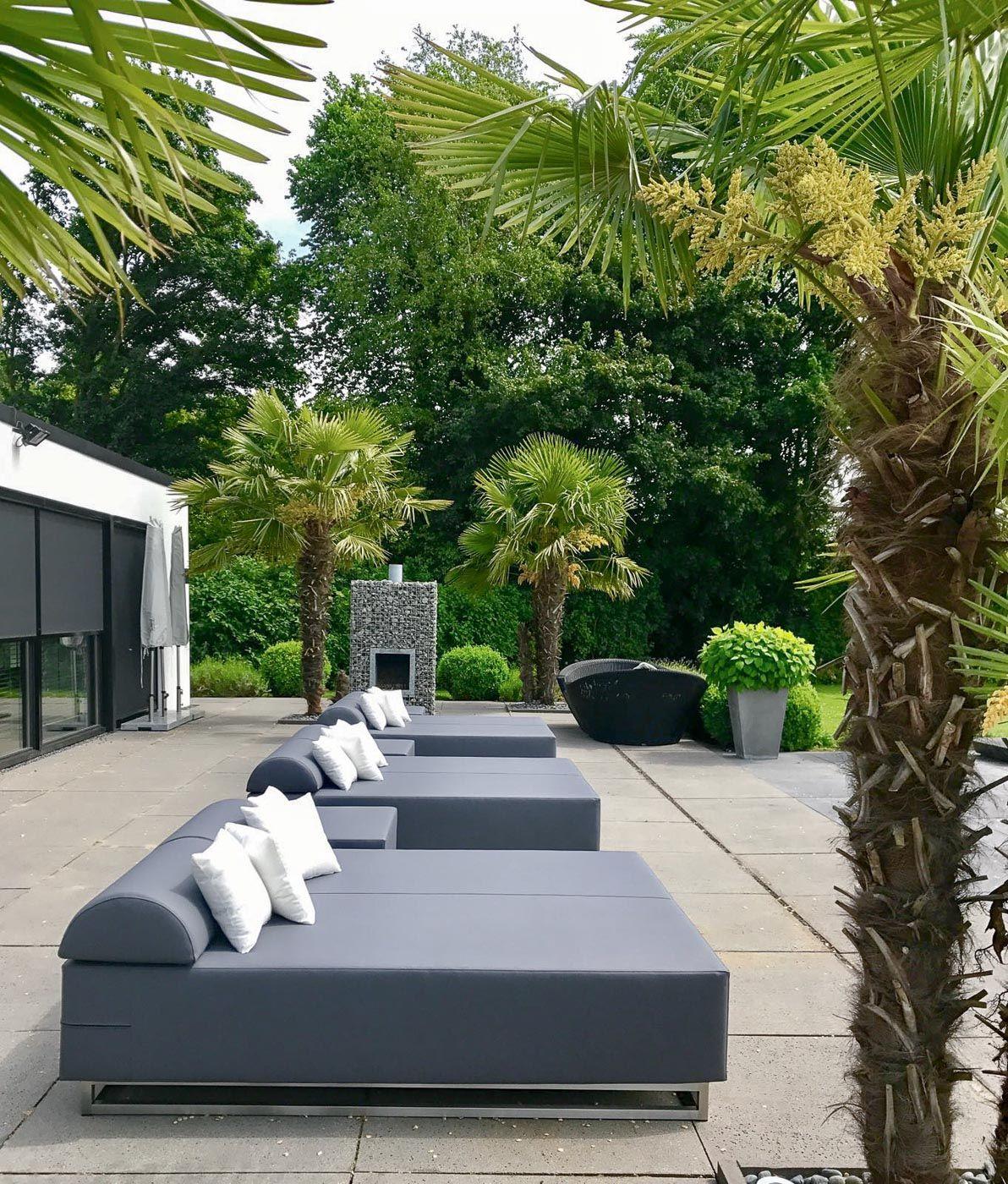 Lounge Bett Garten Loungebett Outdoor